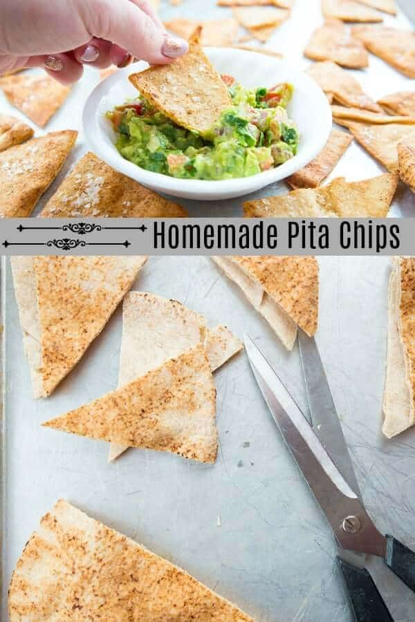 I taught my sonHow to Make Homemade Pita Chips & I realized that not everyone knows the basics! If my 14 year old son needed to learn this cooking skill, then there are tons of other people that could benefit from knowing it! #homemade #DIY #kitchenhack #cooking #baking #pitachips #snack #healthy #healthysnack #recipe #pita #oliveoil #seasalt