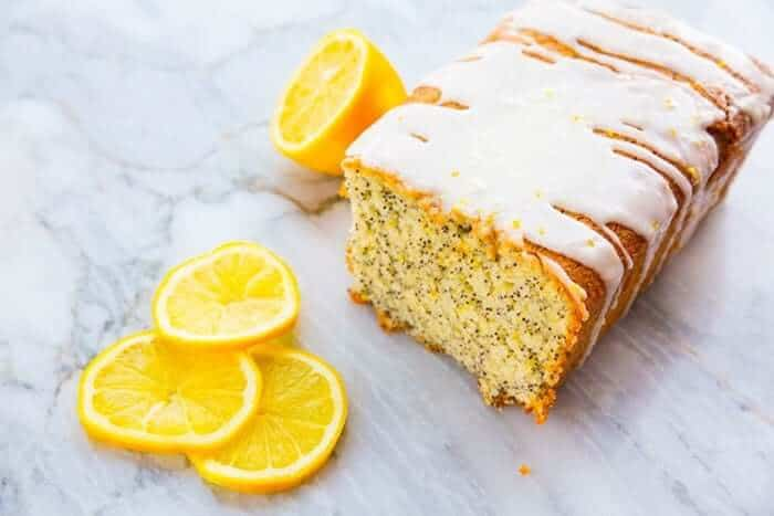 Lemon Poppy Seed Loaf Cake with Lemon Icing Glaze, perfect for your springtime baking!