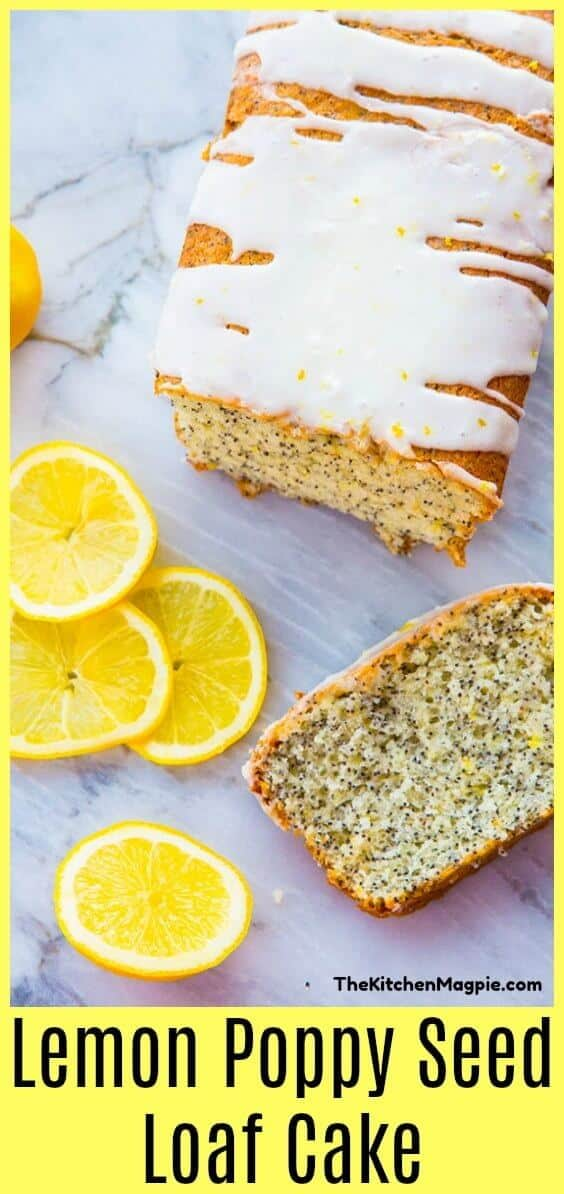 Lemon Poppy Seed Loaf Cake with Lemon Icing Glaze, perfect for your springtime baking! #lemon #cake #lemoncake #lemonloaf #poppyseed #lemonpoppyseed #sweet #dessert #cakerecipe #recipe #baking
