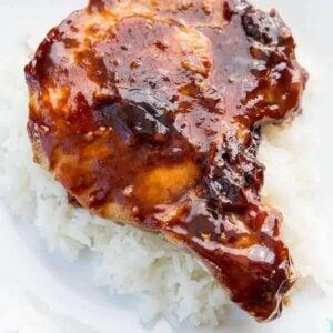 Saucy Brown Sugar Baked Pork Chops   The Kitchen Magpie