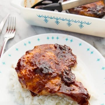 Saucy Brown Sugar Baked Pork Chops