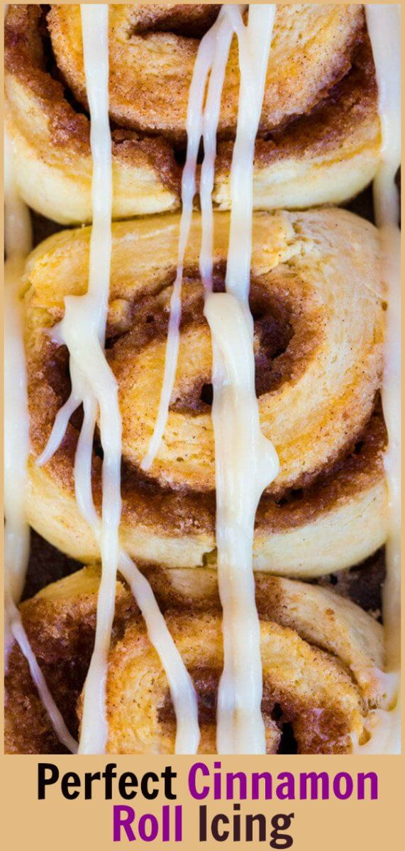 The Best Danish, Pastry and Cinnamon Roll Icing Glaze or Frosting! This buttery, crackly icing glaze is the best one ever! #cinnamonrolls