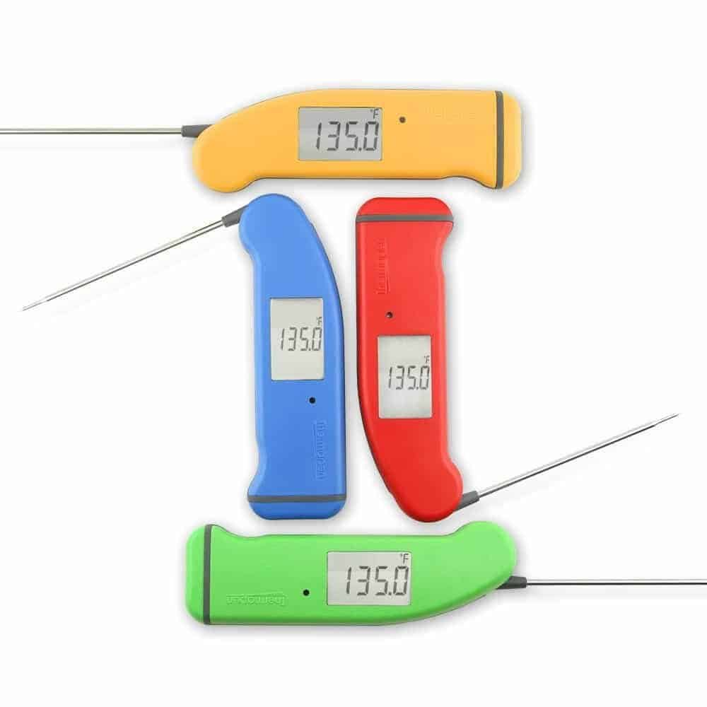 Yellow, Red, Blue and Green Instant Read Thermometers