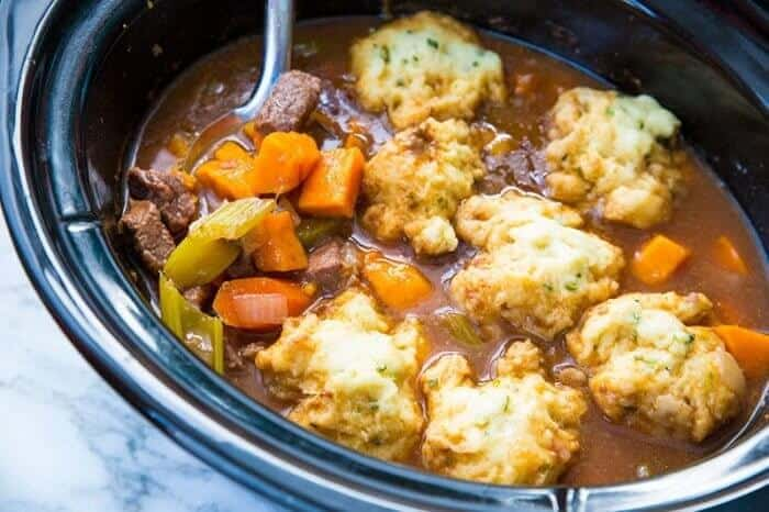Beef & Sweet Potato Stew in a Slow Cooker