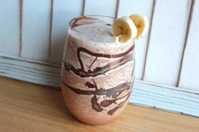Chunky Monkey Cocktail Garnish with two slices of bananas