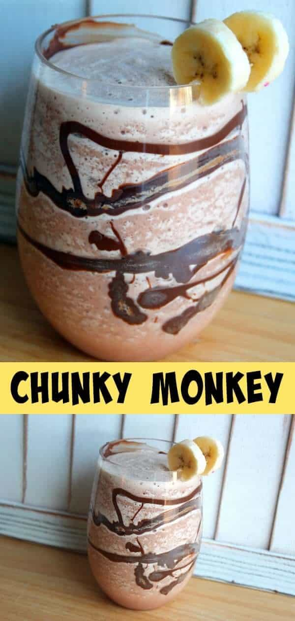 Chunky Monkey Cocktail - Both Dairy and Vegan Versions included!
