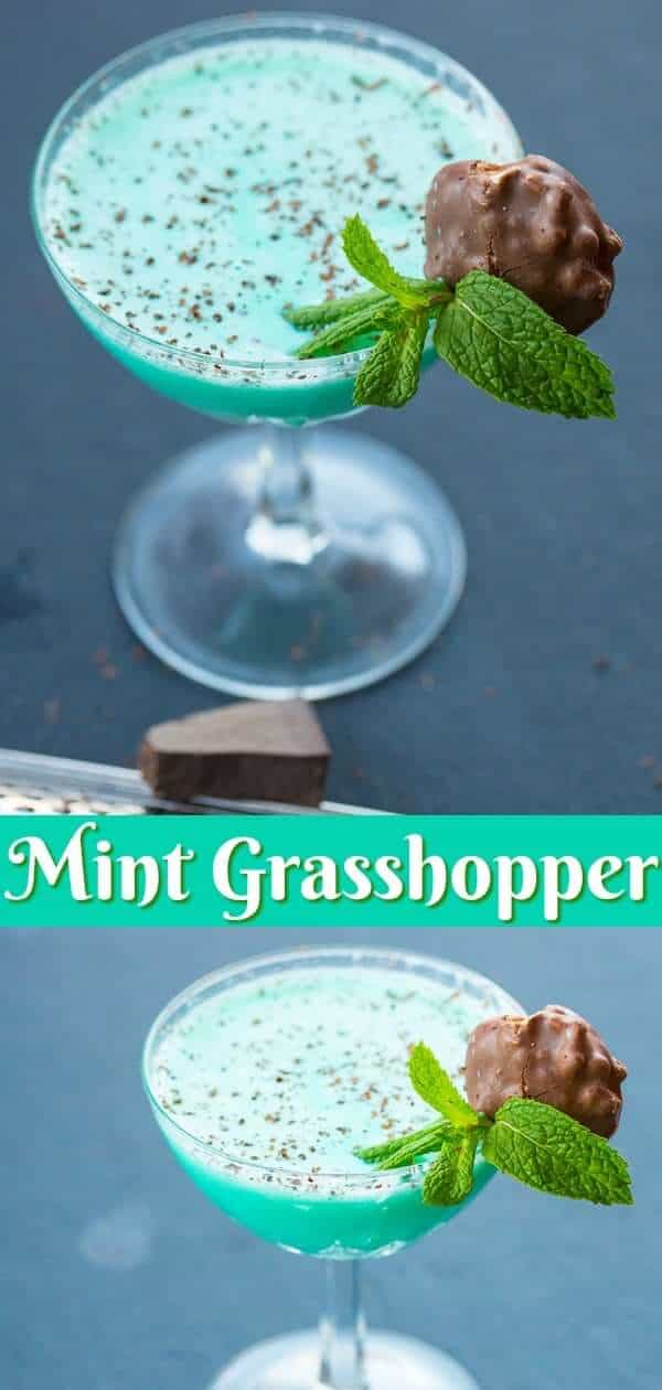 How to make the Classic Grasshopper Cocktail Drink. This chocolate mint cocktail is better than most desserts! #cocktail #mint #green #alcohol #drinks #recipe #chocolate