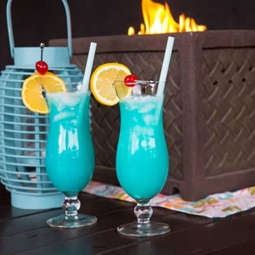 The Blue Lagoon Cocktail Drink