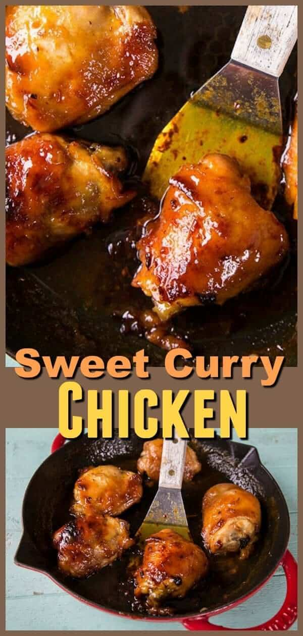 This sweet honey curry chicken is a family favourite! This is a great recipe to introduce kids to curry. #curry #currychicken #chicken #recipe #chickenrecipe #chickenthighs