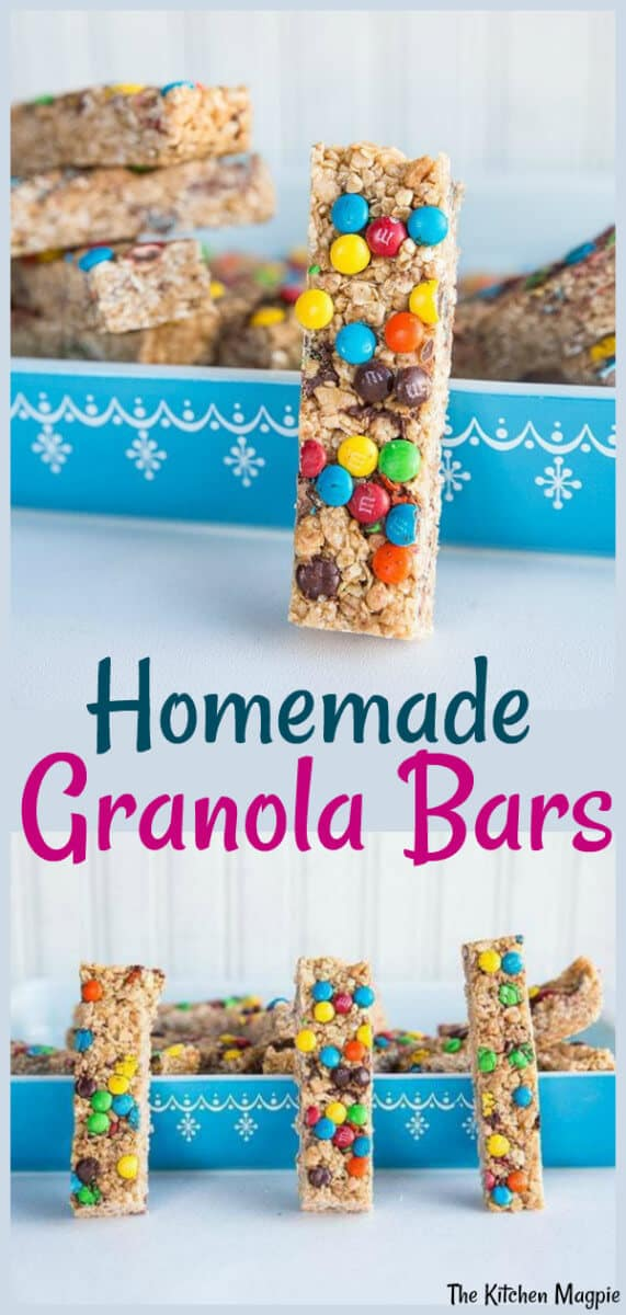 Pre-make a week's worth of granola bars for your (and your children's) lunches in a mere 10 minutes! #granola #bars #kids #lunches