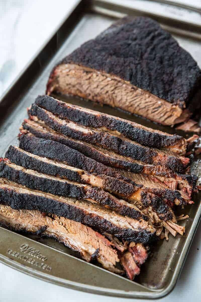 A well smoked and cooked brisket should flake easily and fall apart when done.