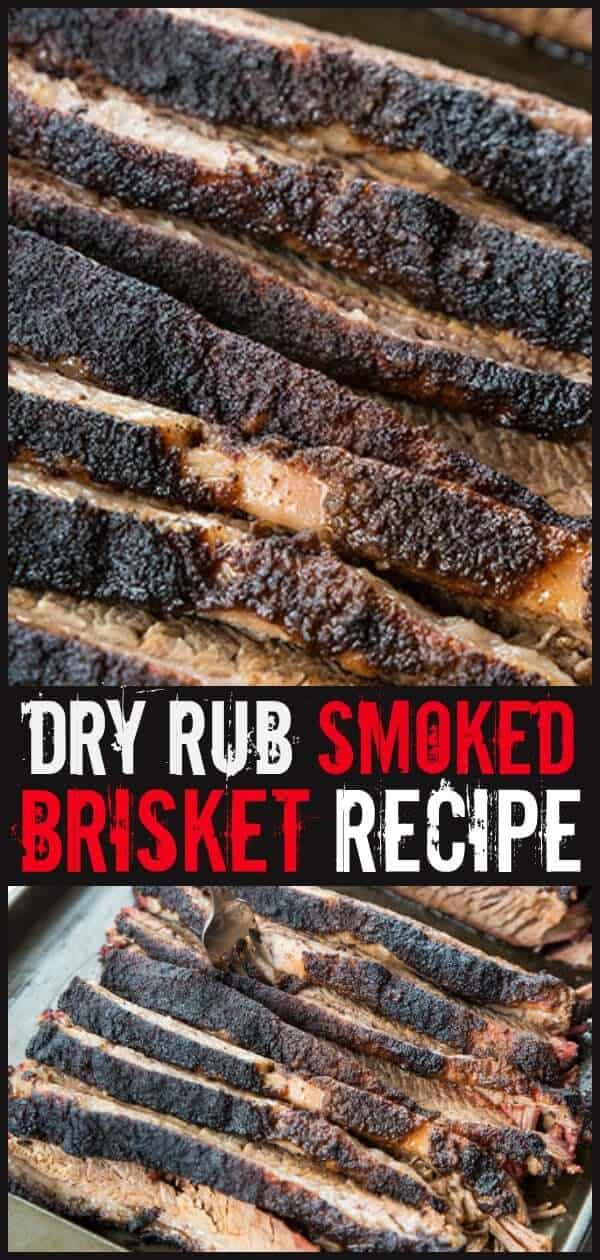 How to Make a Dry Rub Smoked Brisket - This is perfect for a weekend meal and a great way to prepare brisket. #brisket #smokerrecipes #smoker #smokedmeat #smokingmeat #smokedbrisket #bbq #bbqrecipes #recipes #food