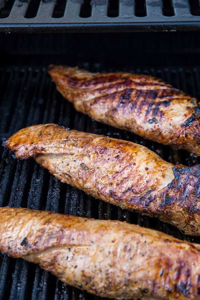 Marianted Honey Garlic Pork Tenderloin on the BBQ