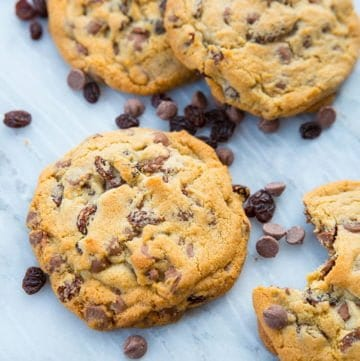 Milk Chocolate Chip Cookies with Raisins
