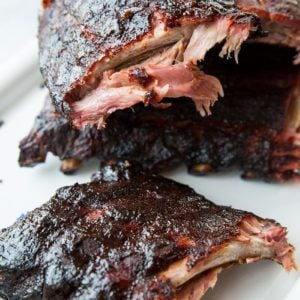 Close up of Smoky Whisky Sliced Ribs