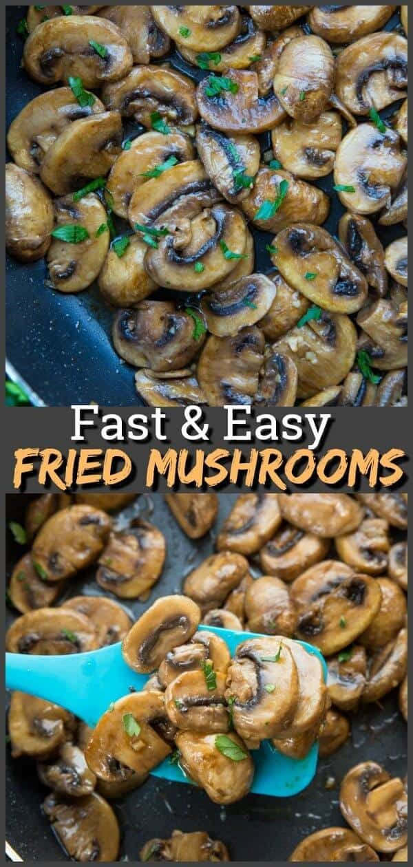Teryaki Fried Mushrooms, quick, easy and a family favourite! #mushrooms #recipe #bbq #grilling #fried #summer