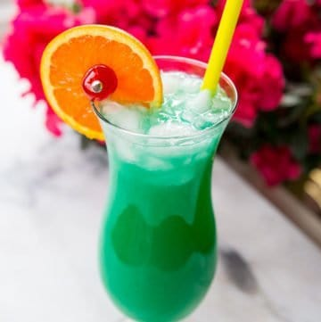 Green Screwdriver Cocktail Drink