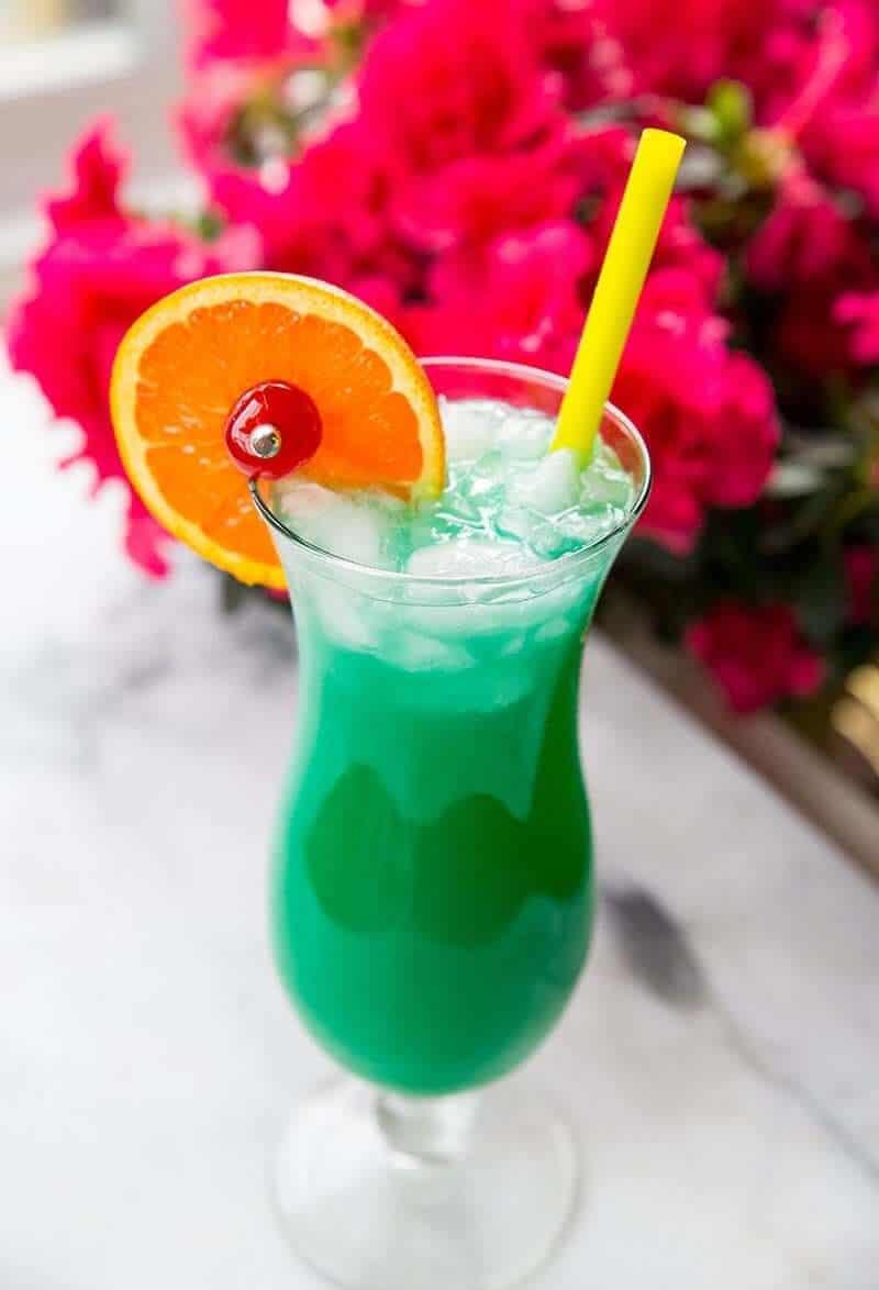 Green Screwdriver Cocktail Drink