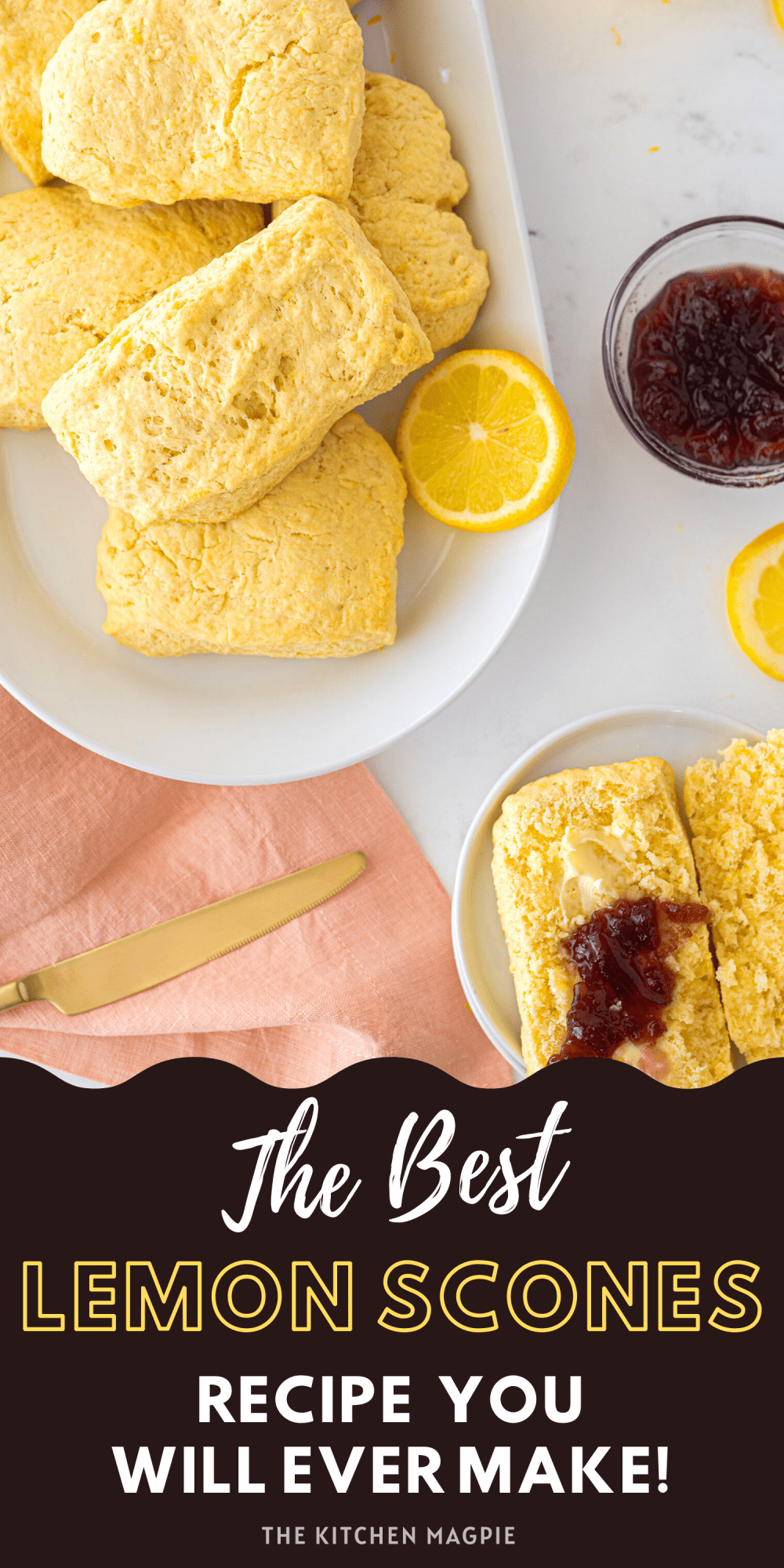 Crispy, buttery lemon scones that are the perfect breakfast or tea time treat!