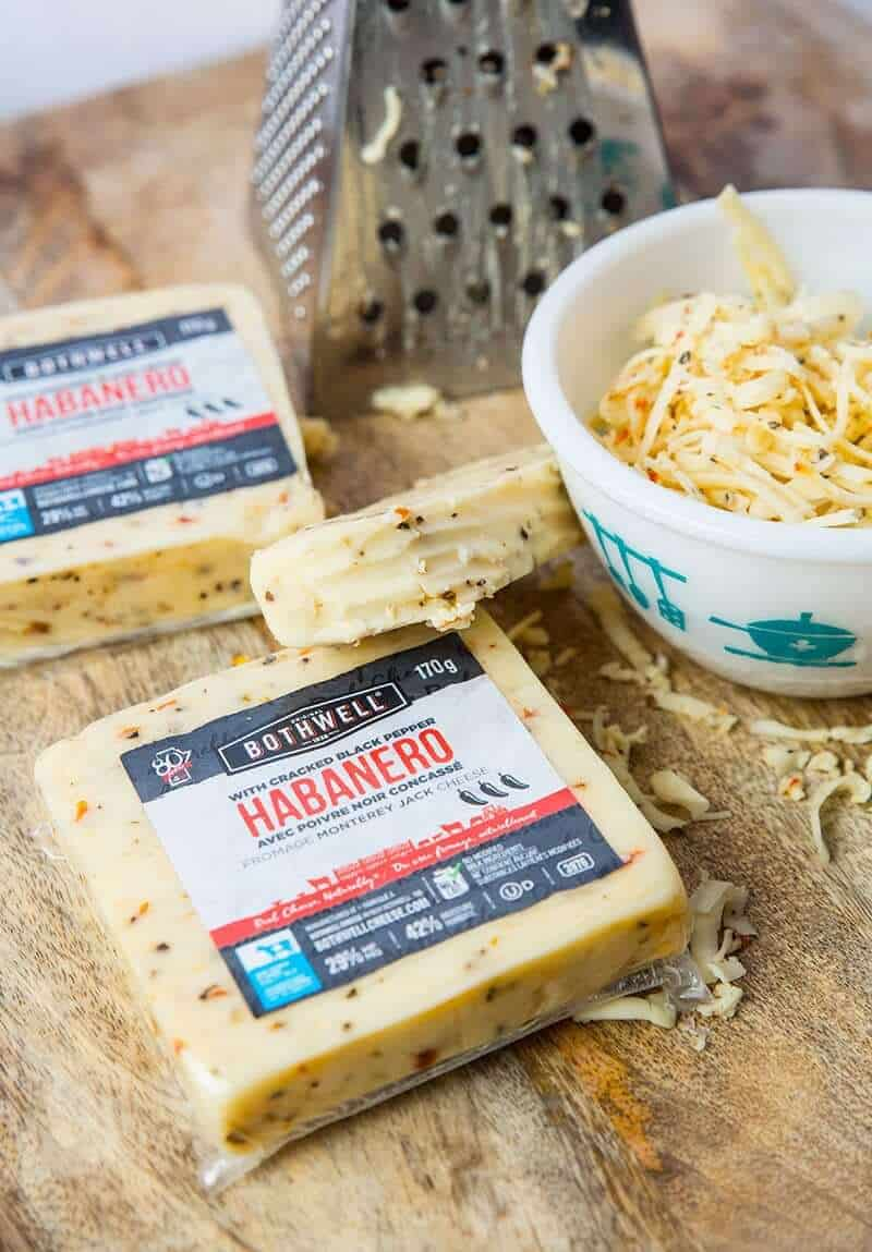 Grated Bothwell Cheese - Habanero with Cracked Black Pepper Cheese