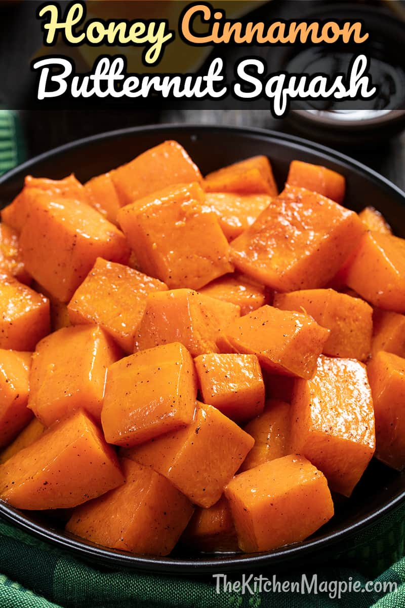 To to make delicious Honey and CinnamonRoasted Butternut Squash in your oven! The honey and cinnamon are the perfect pairing for this sweet squash.