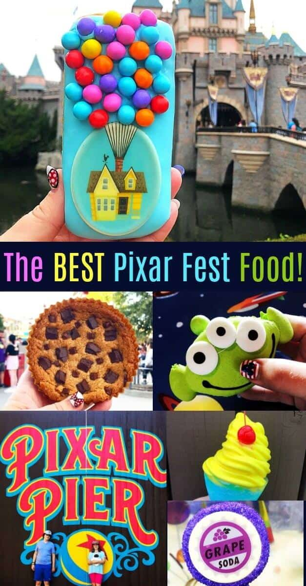The Best Eats and Treats from Pixar Fest! #disney #disneyland #up #pixar #pixarfest #pixarpier #disneylandfood #disneyfood