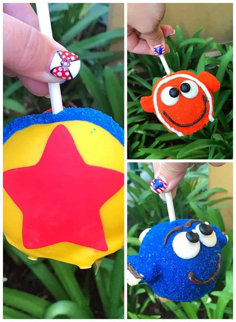Pixar Fest Candy Apples