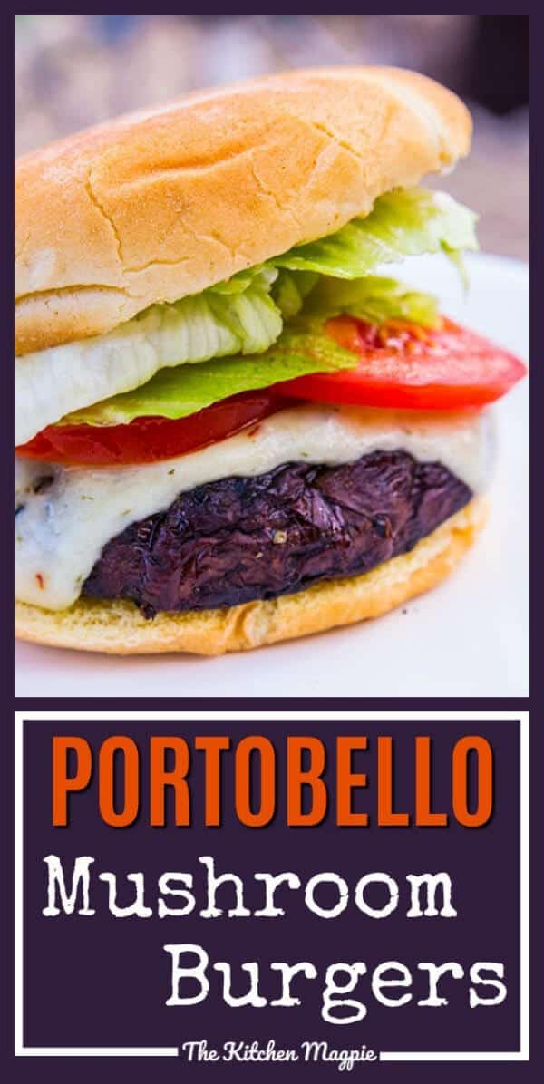 Amazing Portobello Mushroom Burgerse - the secret is in the marinade! #mushroom #burgers #vegetarian