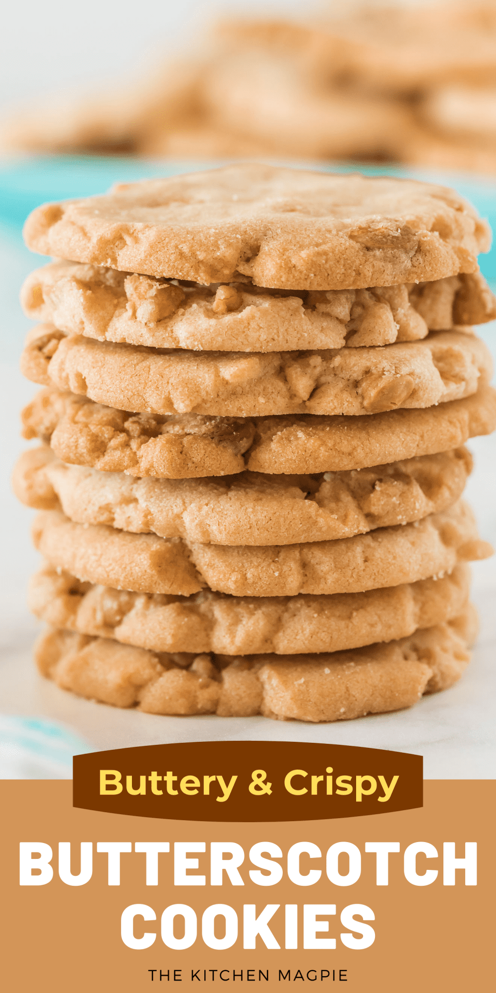 Buttery, crispy and delicious butterscotch cookies! These are for the crispy cookie lovers who also have a major sweet tooth, they are very sweet with the butterscotch morsels in them!