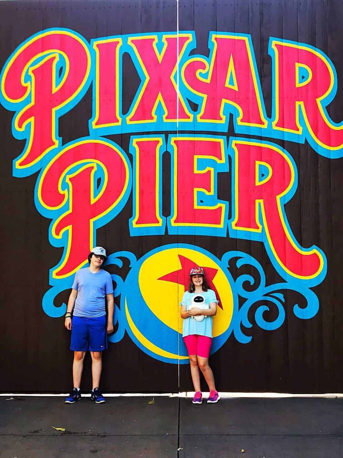 PIxar Pier background in photograph