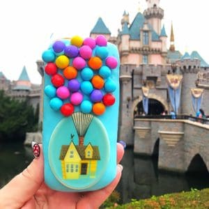 Blue UP Doughnut in Disneyland that looks like a phone case