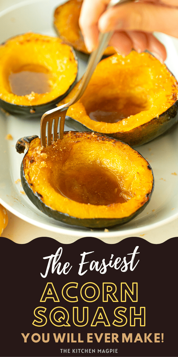 Acorn squash is roasted in the oven then topped with butter and brown sugar for the perfect squash side dish! This acorn squash recipe is so fast, easy, and healthy. Acorn squash is cheap and abundant in the autumn, so here's an easy recipe to show you how to cook acorn squash.