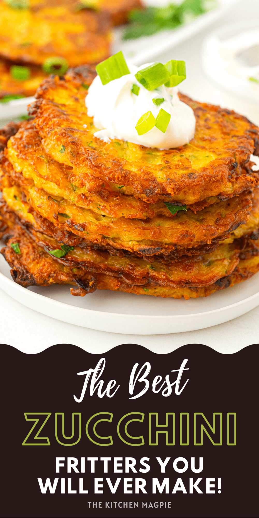 These zucchini fritters are loaded with two types of cheese, garlic and onion then fried to a golden, crispy perfection!