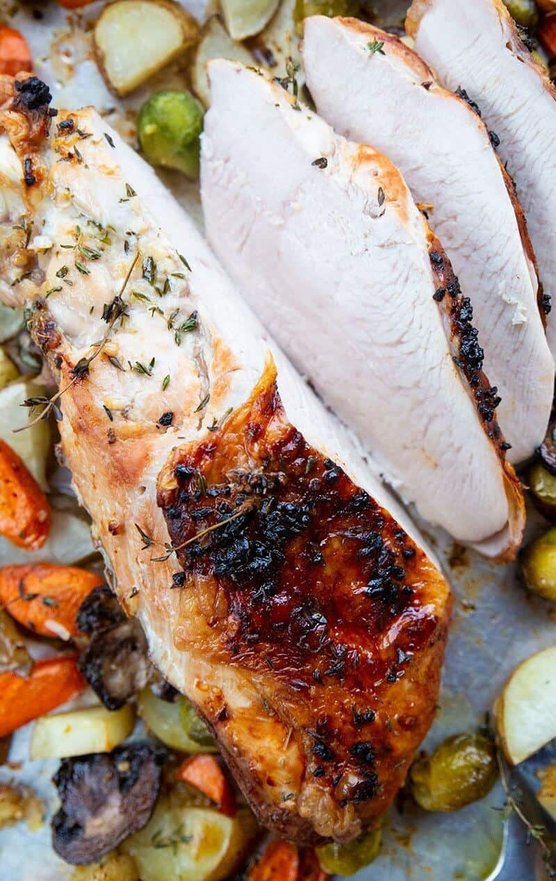 close up sliced Roast Turkey Breast