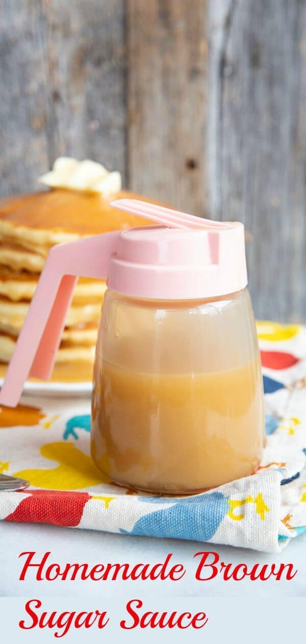 How to make homemade brown sugar sauce for pancakes and desserts. #sauce #homemade #desserts #pancakes #syrup #brownsugar #breakfast #brunch
