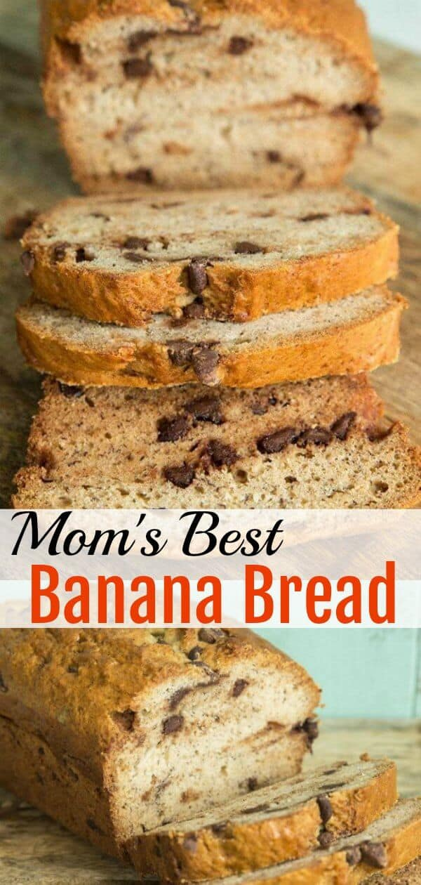Mom's Best Banana Loaf Recipe - there's a reason that this is a 5 star rated banana bread recipe! It always works! #banana #bananabread #bananaloaf #baking #sweet #recipe #food #desssert