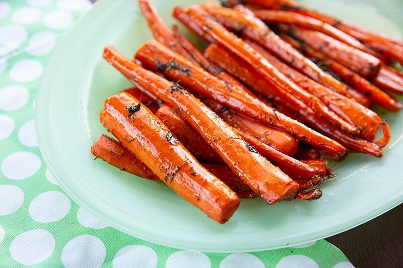 Dill & Brown Sugar Roasted Carrots