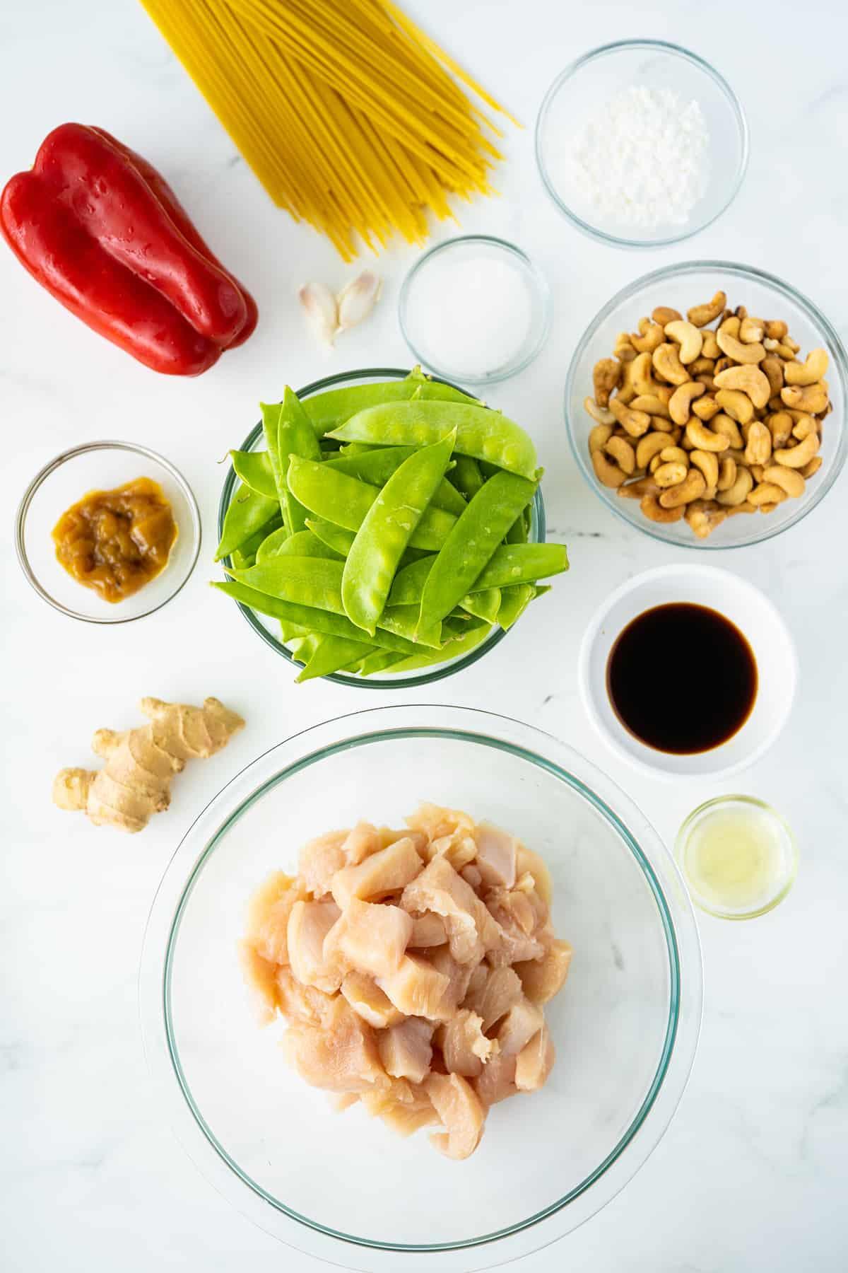 Ingredients for Cashew Chicken Stir Fry