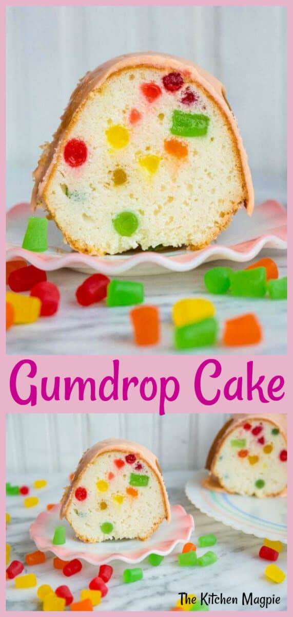 Decadent and delicious Gumdrop Cake! Perfect for your next party or holiday gathering! #cake #gumdrops #christmas
