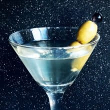 Dirty Martini close up