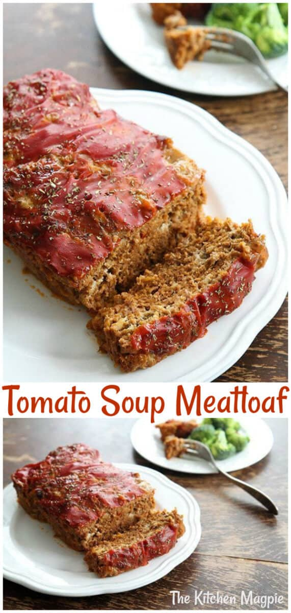 A classic meatloaf recipe that uses tomato soup. Sometimes nothing beats a classic meatloaf recipe! #meatloaf #tomato #soup