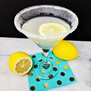 Top Down Shot of the Lemon Drop Martini