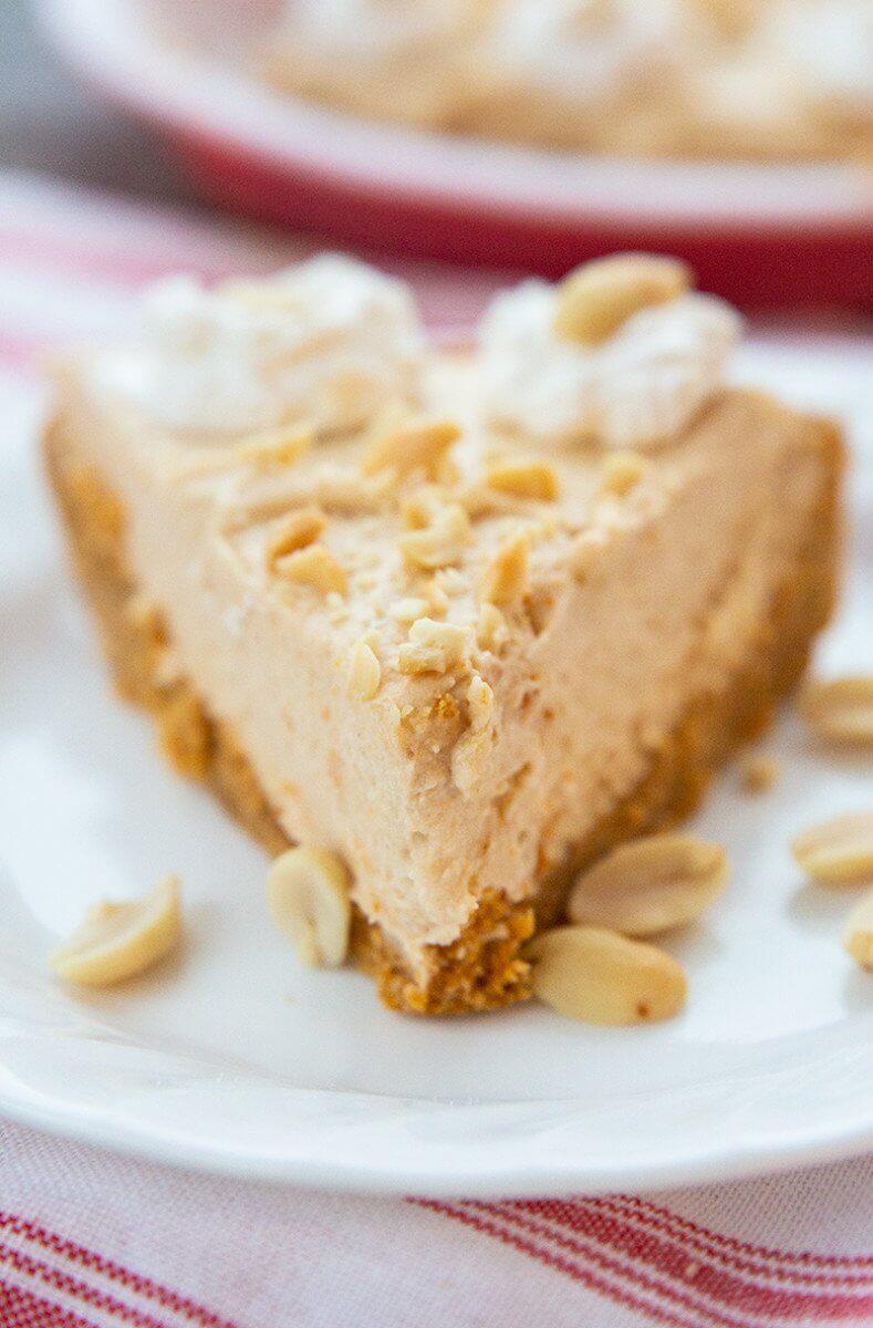 Close up of Peanut Butter Pie