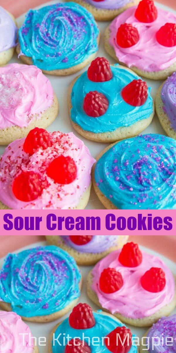 These old fashioned cut out sour cream sugar cookies are soft, pillowy and have a sour cream tang paired with a delightful hint of nutmeg! #cookies