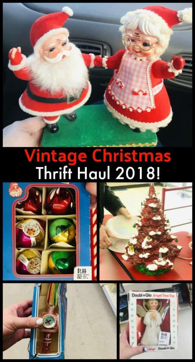 Thrifting vintage Christmas collectibles! #thrifting #christmas #midcentury