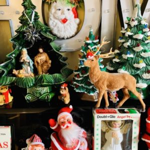vintage ceramic Christmas display