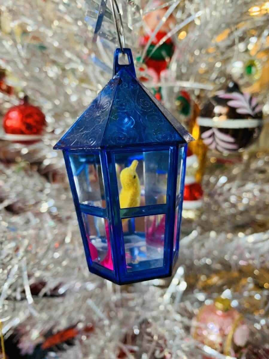 vintage bird Christmas ornament