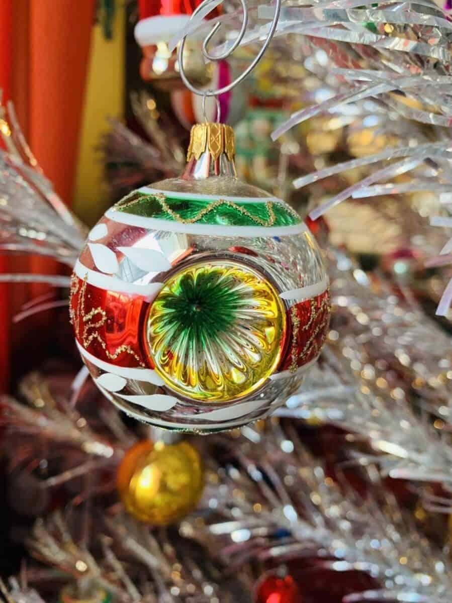 vintage indented Christmas ornament