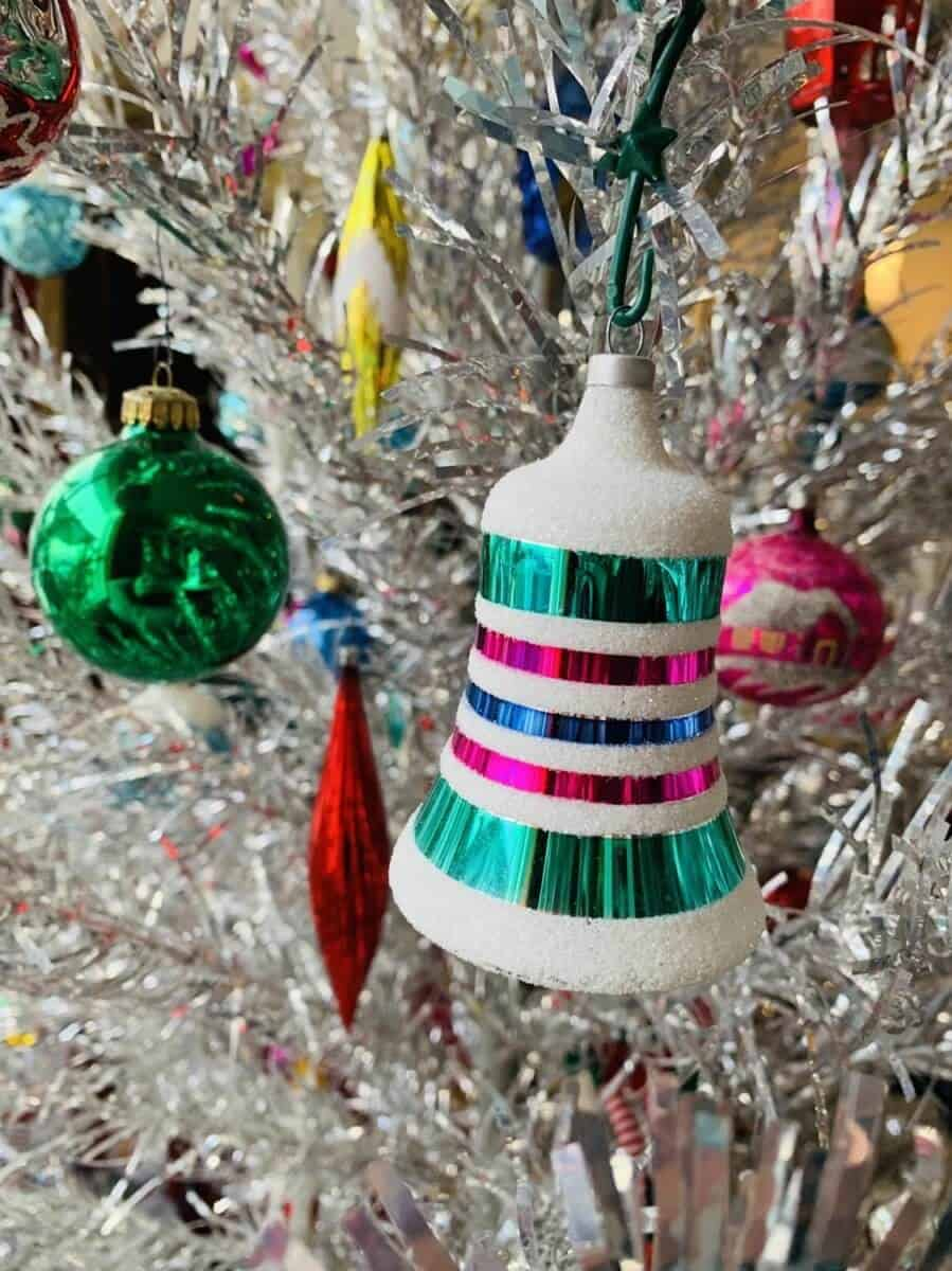 retro bell ornament