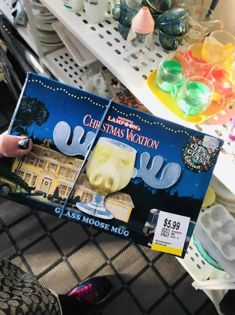 Christmas Vacation moose eggnog cup in box